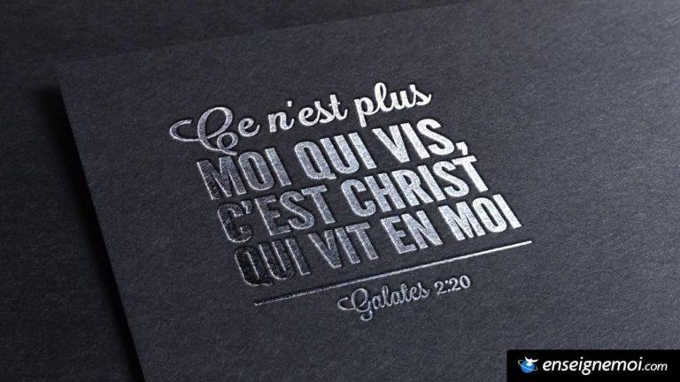 Ce n'est plus moi qui vit, c'est Christ qui vit en moi
