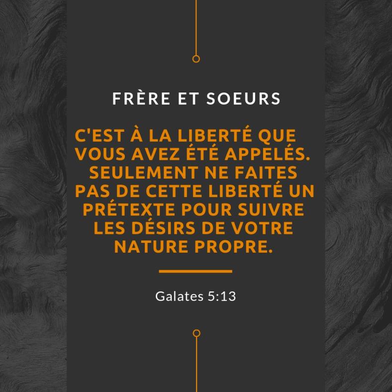 Christ vit en moi, la liberté